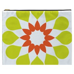 Tikiwiki Abstract Element Flower Star Red Green Cosmetic Bag (xxxl)