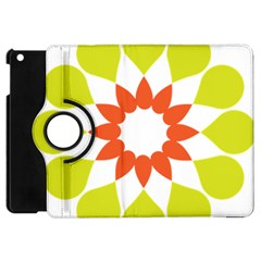 Tikiwiki Abstract Element Flower Star Red Green Apple Ipad Mini Flip 360 Case by Alisyart