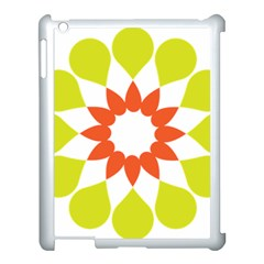 Tikiwiki Abstract Element Flower Star Red Green Apple Ipad 3/4 Case (white)