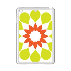 Tikiwiki Abstract Element Flower Star Red Green Ipad Mini 2 Enamel Coated Cases