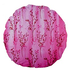 Pink Curtains Background Large 18  Premium Flano Round Cushions by Simbadda