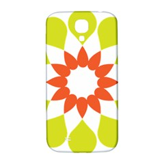 Tikiwiki Abstract Element Flower Star Red Green Samsung Galaxy S4 I9500/i9505  Hardshell Back Case