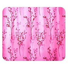 Pink Curtains Background Double Sided Flano Blanket (small)  by Simbadda