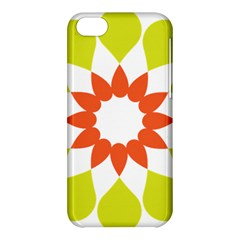 Tikiwiki Abstract Element Flower Star Red Green Apple Iphone 5c Hardshell Case by Alisyart