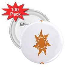 Sunlight Sun Orange 2 25  Buttons (100 Pack)