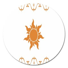 Sunlight Sun Orange Magnet 5  (round) by Alisyart