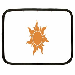 Sunlight Sun Orange Netbook Case (xxl)  by Alisyart