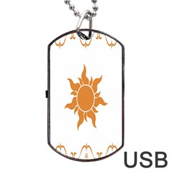 Sunlight Sun Orange Dog Tag Usb Flash (one Side) by Alisyart