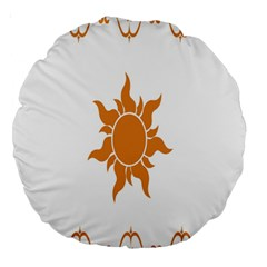 Sunlight Sun Orange Large 18  Premium Round Cushions by Alisyart