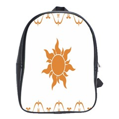 Sunlight Sun Orange School Bags (xl)  by Alisyart