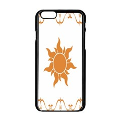 Sunlight Sun Orange Apple Iphone 6/6s Black Enamel Case by Alisyart