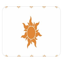 Sunlight Sun Orange Double Sided Flano Blanket (small)  by Alisyart