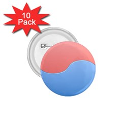 Taekwondo Sign Red Blue 1 75  Buttons (10 Pack)