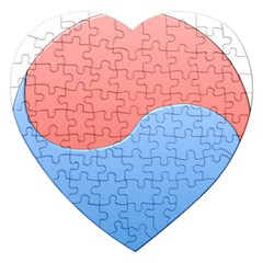 Taekwondo Sign Red Blue Jigsaw Puzzle (heart)