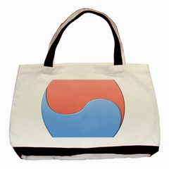 Taekwondo Sign Red Blue Basic Tote Bag (two Sides)