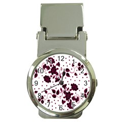 Floral Pattern Money Clip Watches by Simbadda