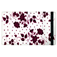 Floral Pattern Apple Ipad 3/4 Flip Case by Simbadda