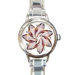 Prismatic Flower Line Gold Star Floral Round Italian Charm Watch by Alisyart