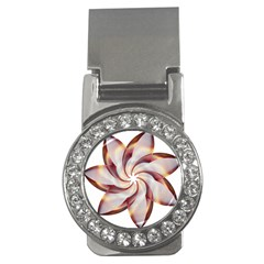 Prismatic Flower Line Gold Star Floral Money Clips (cz)  by Alisyart