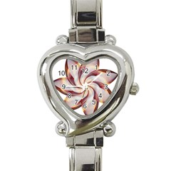 Prismatic Flower Line Gold Star Floral Heart Italian Charm Watch by Alisyart