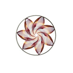 Prismatic Flower Line Gold Star Floral Hat Clip Ball Marker (4 Pack)