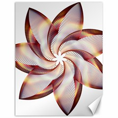 Prismatic Flower Line Gold Star Floral Canvas 12  X 16   by Alisyart