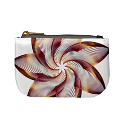 Prismatic Flower Line Gold Star Floral Mini Coin Purses