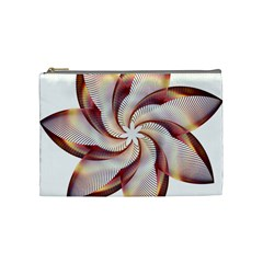 Prismatic Flower Line Gold Star Floral Cosmetic Bag (medium)  by Alisyart