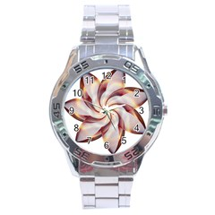 Prismatic Flower Line Gold Star Floral Stainless Steel Analogue Watch