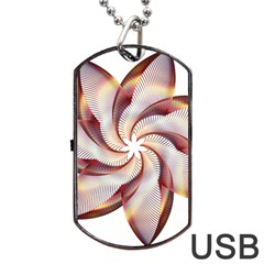 Prismatic Flower Line Gold Star Floral Dog Tag Usb Flash (two Sides) by Alisyart