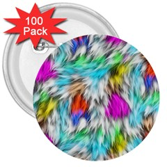Fur Fabric 3  Buttons (100 Pack)  by Simbadda
