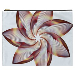 Prismatic Flower Line Gold Star Floral Cosmetic Bag (xxxl)