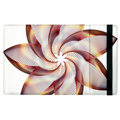 Prismatic Flower Line Gold Star Floral Apple Ipad 3/4 Flip Case by Alisyart