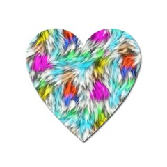 Fur Fabric Heart Magnet by Simbadda
