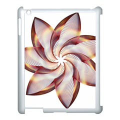 Prismatic Flower Line Gold Star Floral Apple Ipad 3/4 Case (white)