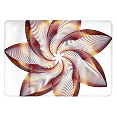 Prismatic Flower Line Gold Star Floral Samsung Galaxy Tab 10 1  P7500 Flip Case