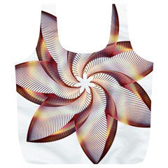 Prismatic Flower Line Gold Star Floral Full Print Recycle Bags (l)  by Alisyart