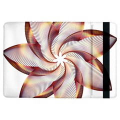 Prismatic Flower Line Gold Star Floral Ipad Air Flip by Alisyart