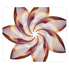 Prismatic Flower Line Gold Star Floral Double Sided Flano Blanket (small)  by Alisyart