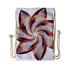 Prismatic Flower Line Gold Star Floral Drawstring Bag (small) by Alisyart