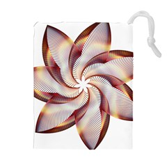 Prismatic Flower Line Gold Star Floral Drawstring Pouches (extra Large) by Alisyart