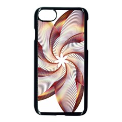 Prismatic Flower Line Gold Star Floral Apple Iphone 7 Seamless Case (black)