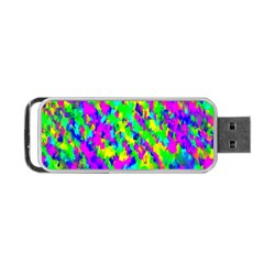 Red Black Gray Background Portable Usb Flash (one Side) by Simbadda