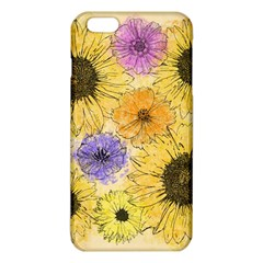 Multi Flower Line Drawing Iphone 6 Plus/6s Plus Tpu Case by Simbadda