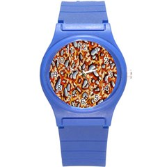 Pebble Painting Round Plastic Sport Watch (s) by Simbadda