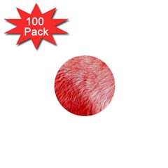 Pink Fur Background 1  Mini Buttons (100 Pack)  by Simbadda