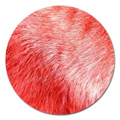 Pink Fur Background Magnet 5  (round) by Simbadda
