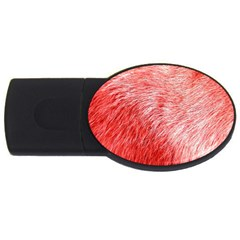 Pink Fur Background Usb Flash Drive Oval (2 Gb)