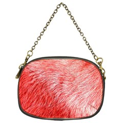 Pink Fur Background Chain Purses (one Side)  by Simbadda