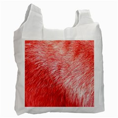 Pink Fur Background Recycle Bag (one Side) by Simbadda